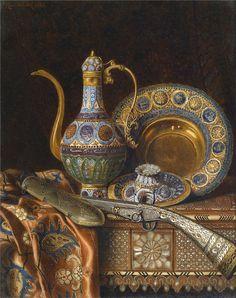 Max Schödl (Austrian, 1834-1921). Oriental Still Life, 1886