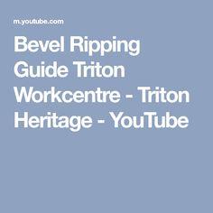 Bevel Ripping Guide Triton Workcentre - Triton Heritage - YouTube
