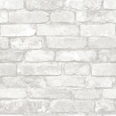 Brick Discover NuWallpaper Grey and White Brick Peel And Stick Wallpaper - The Home Depot WallPOPs sq. Grey and White Brick Peel and Stick - The Home Depot Brick Wallpaper Decal, Brick Effect Wallpaper, White Brick Wallpaper, White Brick Walls, Grey Brick, Wallpaper Samples, Temporary Wallpaper, Wallpaper Decor, Brick Wallpaper Kitchen