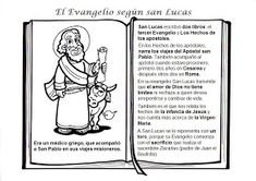 La Catequesis: Conocemos y coloreamos a los Cuatro Evangelistas Lucas Evangelista, Religion Catolica, Catholic Kids, Sunday School Crafts, Lessons For Kids, Faith, Comics, Sewing, Memes