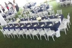 Lighthouse Sound Wedding | Ocean City MD Wedding | Tent Weddings Delaware | Chiavari Chairs | Kings Table | Navy Linen | Tented Wedding Ideas | Wedding Tent Layout | wedding tent design