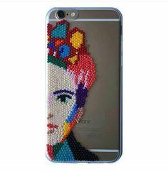 Frida Kahlo hama beads perler beads Phone case