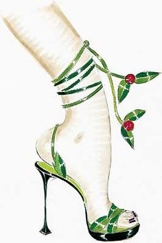 Christmas with Manolo Blahnik- I could not walk in these and wouldn't choose to lol