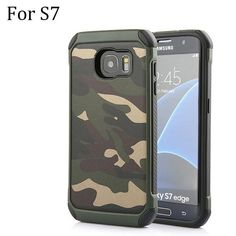 For Galaxy Note 5 Navy 2 in 1 Army Camo Camouflage Hybrid Armor Cases for Samsung Galaxy S6 / S6 edge / Plus S7 / edge Case