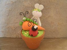 *POLYMER CLAY ~ Bunny and Garden Friends.