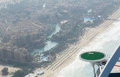 Amazing Photos of Dubai, The United Arab Emirates - One Big Photo - Extremely high golf court on helipad of Burj Al Arab sailboat hotel in Dubai. Dubai Hotel, Dubai City, Dubai Uae, Rory Mcilroy, Burj Al Arab, Abu Dhabi, Places Around The World, Around The Worlds, Golf Card Game