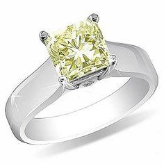 Canary Diamond Engagement Ring & Platinum = Want Yellow Diamond Engagement Ring, Canary Diamond, Princess Cut, Maid Of Honor, Amazing Women, Wedding Jewelry, White Gold, Jewels, Gemstones