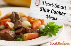 11 heart-healthy slow cooker recipes you'll love! | via @SparkPeople #food #nutrition #Crockpot