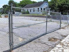 Cheap Chain Link Fence Gates - http://www.apilotsjourney.com/cheap-chain-link-fence-gates/ : #GardenFence Chain link fence gates provide a relatively inexpensive way to protect an area, either on Rear Park, a perimeter of property, a kennel, a sports field or industrial area. A hinged door is a convenient way to provide access through a chain link fence with links to a path in a park or in a kennel,...