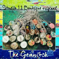 """S11 Original!  The """"Gemwitch"""" The funky glass gem necklaces that built our dream!   Always one of a kind!"""