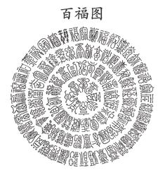 The picture above shows the 100 Chinese characters for Blessing. They are all the same character for Blessing, but each one is written differently. Calligraphy Text, Chinese Calligraphy, Lucky Symbols, Ancient Scripts, Chinese Patterns, I Ching, Chinese Words, Chinese Brush, Taoism