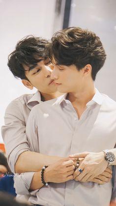 Tharntype the series - Couple Mew Gulf Cute Couple Art, Best Couple, Cute Gay Couples, Thai Drama, Asian Actors, Cute Love, My Idol, Lgbt, Guys