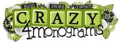 Scrapbooking TammyTags -- TT - Designer - Crazy For Monograms,  TT - Item - Alphabet, TT - Style - Monogram