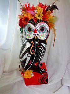 Dia De Los Muertos OWL Sugar Skull Day of the Dead