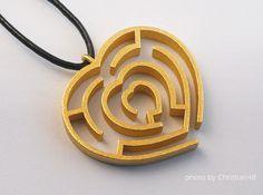 Heart maze pendant by Fairesure