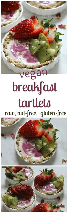 Perfect for Easter brunch, these vegan breakfast tartlets are raw and free from gluten & nut. Make the shells in advance and eat throughout the week.