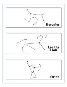 printable constellation worksheets two sample sheets of constellations for handouts click for. Black Bedroom Furniture Sets. Home Design Ideas