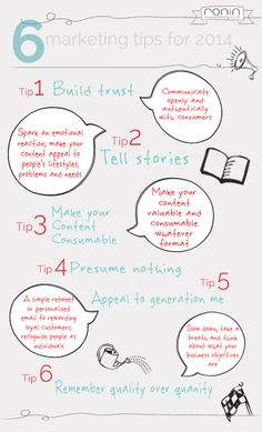 6 consejos de marketing para 2014 #infografia #infographic #marketing
