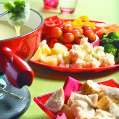 Kaasfondue met ansjovis en groenten - Boodschappen