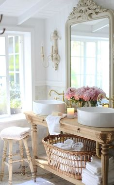 French Country Cottage Bathroom Renovation Vanity Style House