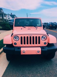 ☆ whats your dream car? mine is a JEEP like the - vsco. Blue Jeep, White Jeep, Pink Jeep, Lime Green Jeep, Dream Cars, My Dream Car, Fancy Cars, Cute Cars, Jeep Rubicon