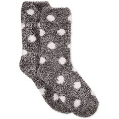 Charter Club Women's Butter Super Soft Marled Dot Socks, ($10) ❤ liked on Polyvore featuring intimates, hosiery, socks, accessories, shoes, socks/tights, polka dot hosiery, polka dot socks, marled socks and dot socks