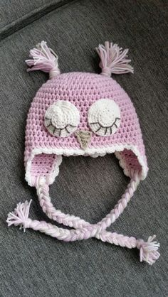 Crochet, pink owlhat for my newborn♡ Winter Hats, Crochet Hats, Pink, Fashion, Knitting Hats, Moda, Fashion Styles, Pink Hair, Fashion Illustrations