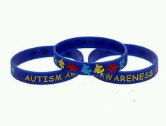 "1x Autism Awareness 1/2"" silicone bracelet. U.S. Veteran Operated"