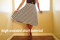 Youngbird: Easy High-Waisted Skirt Tutorial