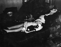 Women and Cats will do as they please. Monochrome Photography, Black And White Photography, Grosse Fatigue, Opium Den, Brassai, Kuniyoshi, Paris Images, Man And Dog, French Photographers