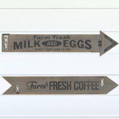 Farm Fresh Arrow Sign