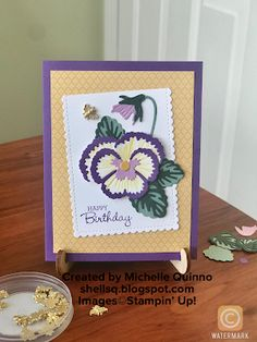 Birthday Cards, Happy Birthday, Patriots Day, Blender Pen, Cute Bee, Colour List, My Stamp, Pansies, Free Gifts