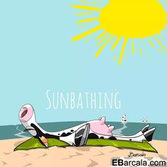 Aman la playa y el sol. Dairy cows are like high performance athletes. They need vacations. They love the beach and the sun. Happy Cow, Cows, Athletes, Vacations, Dairy, Sun, Beach, Summer, Movie Posters