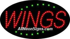 """Animated Wings LED Sign-ANSAR24318  15""""x27""""x1""""  Animated  8lbs  Indoor use only  Low energy cost: Uses ONLY 10 Watts of power  Expected to last at least 100,000 hrs  Cool and safe to touch, low voltage operation  High visibility, even in daylight  Easy to clean, Easy to install, Slim & Light Weight  Maintenance FREE  1 YEAR Warranty."""