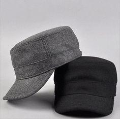 Men Women Winter Military Hat Cap Fashion Army Style Cadet Hats Caps Adjustable