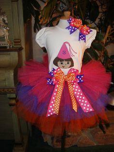 Dora Birthday Tutu set by Nannasinspirations on Etsy, $45.00