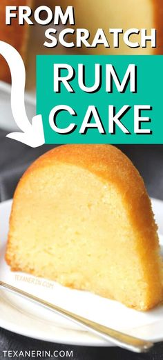 Rum cake from scratch – there's no pudding or cake mix involved and it's even more delicious than the cake mix version! Can be made with all-purpose flour or with whole wheat pastry flour for a whole grain version. Homemade Cake Recipes, Cake Mix Recipes, Pound Cake Recipes, Baking Recipes, Dessert Recipes, Yummy Recipes, Best Rum Cake Recipe, Rum Cake Recipe From Scratch, Rum