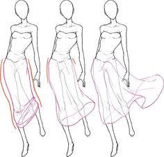 Dessiner les plis des vêtements - Colores Tutorial and Ideas Fashion Sketches, Art Sketches, Art Drawings, Design Reference, Art Reference, Sketches Tutorial, Illustration Mode, Fashion Illustration Tutorial, Poses References