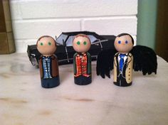 Supernatural Peg Doll Set with Impala by Geektoysandcrafts on Etsy, $20.00