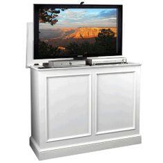 TV Lift Cabinet for 32-46 inch Flat Screens (White) AT006196-WHT TVLIFTCABINET, Inc,http://www.amazon.com/dp/B00GKR47BA/ref=cm_sw_r_pi_dp_MOT9sb17B8JAR4E2
