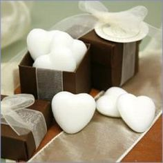 homemade wedding favors, heart soap