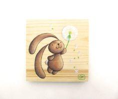 BABY BUNNY DECOR Nursery Dandelion. Baby shower gift by Ciacio