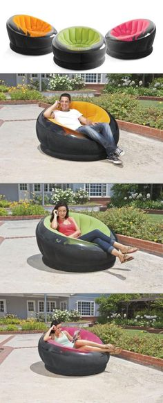 Need extra seating in your room? Why not try an inflatable Empire chair by Intex! Easy to store, and quick to inflate giving you extra room when you need.
