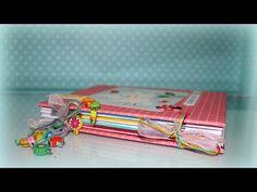 Cómo hacer una Libreta/cuaderno MUY ORIGINAL! - floritere - 2015 - YouTube Tutorial Scrapbook, Diy Scrapbook, Scrapbooking, Album Scrapbook, Travelers Notebook, Happy Planner, Diy Paper, Paper Design, Youtube