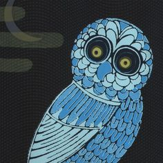 owl art by ahpeele, via Flickr