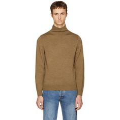 A.P.C. Brown Dundee Turtleneck. #a.p.c. #cloth # Joey Tribbiani, Dundee, Apc, Turtleneck, Rib Knit, Shop Now, Mens Fashion, Pullover, Brown