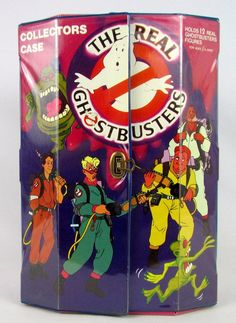 Vtg 1988 The Real Ghostbusters Vinyl Action Figure Carry Collectors Case Display #Kenner