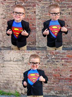 4 yr old boy birthday poses - superman photoshoot - superhero ideas