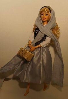 Walt Disney Aurora Briar Rose, Sleeping Beauty OOAK Barbie doll repaint, Hair restyled, Outfit custom. Made by Lulemee.