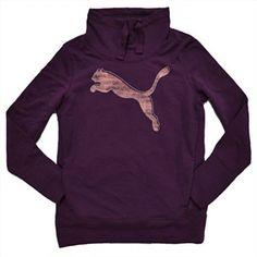 16.82$  Buy now - http://viwip.justgood.pw/vig/item.php?t=sboompz36753 - PUMA NEW Ladies French Terry Pullover Drawstring Cowl Neck Sweatshirt Sz XL Plum